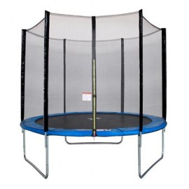 trampoline maxi eco 250 cm bleu filet
